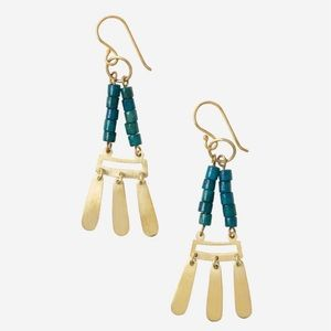 Noonday Collection Terrace Brass Drop Earrings
